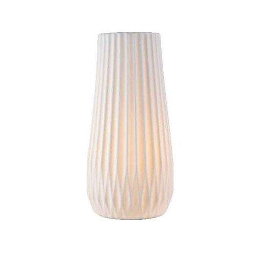 Kaemingk Tischlampe Porzellan 29cm weiß matt