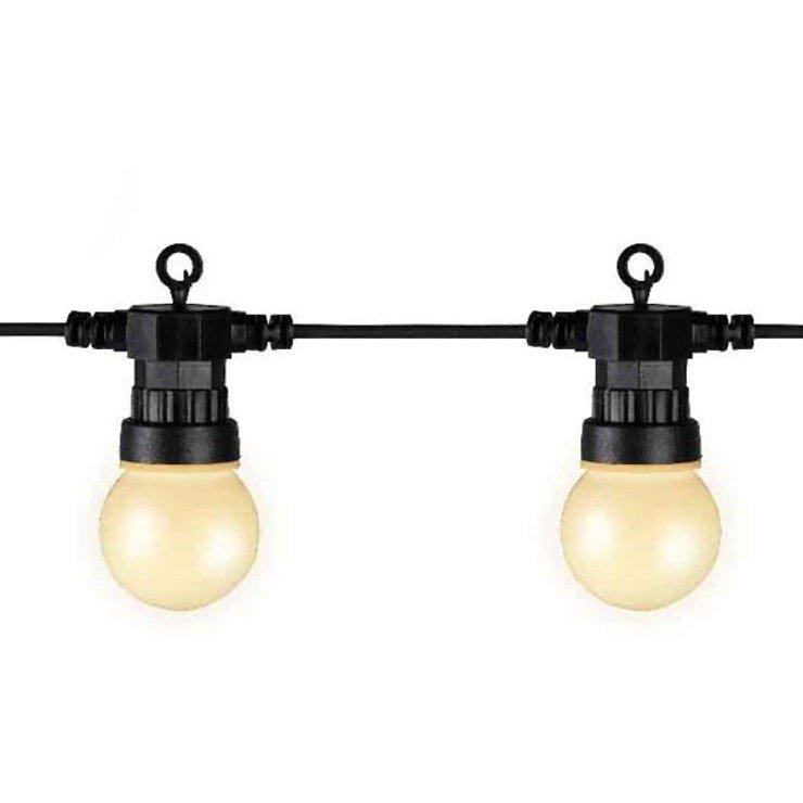kaemingk party lichterkette starter au en 20 led wei matt. Black Bedroom Furniture Sets. Home Design Ideas