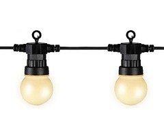 Kaemingk Party Lichterkette Verlängerung Außen 20 LED weiß matt