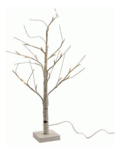 Kaemingk LED Baum Birke weiß 60cm außen 24 LED