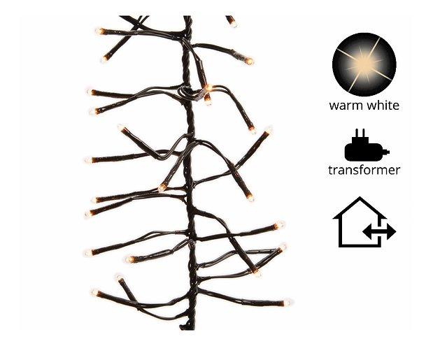Kaemingk Lichterkette Cluster mit Dimmer 448 LED warm weiß außen 3 m schwarz