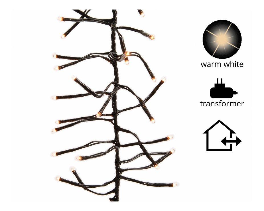 Kaemingk Büschellichterkette 1120 LED warmweiß außen 10m schwarz - Pic 1