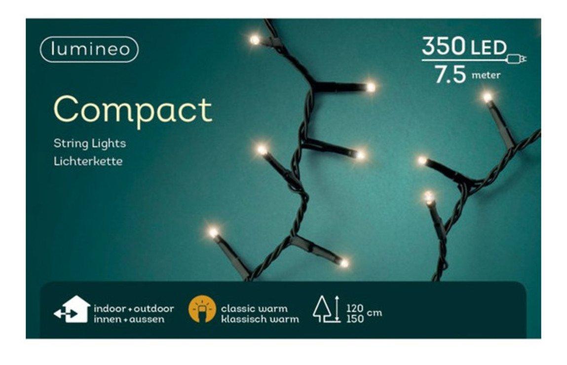 Kaemingk Lichterkette Compact 350 LED classic warm außen 7,5 m grün - Pic 2