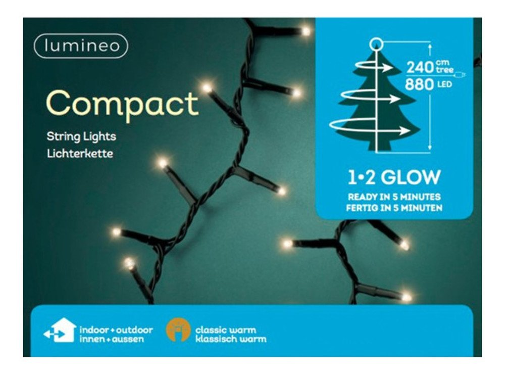 Kaemingk Lichterkette Compact Lights 1-2-glow 880 LED classic warm grün - Pic 2