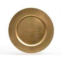 Kaemingk Dekoteller 42cm Kunststoff gold
