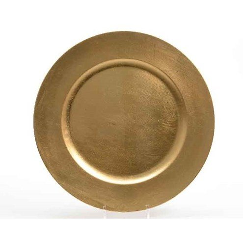 Kaemingk dekoteller 33cm kunststoff gold kaufen - Dekoteller gold ...