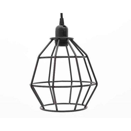 kaemingk pendelleuchte metall 14 x 27cm schwarz kaufen. Black Bedroom Furniture Sets. Home Design Ideas