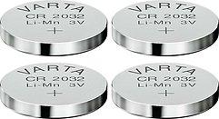 Varta Knopfbatterie Lithium CR 2032 3 Volt 4er Set