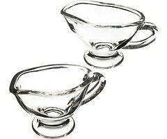 KitchenCraft Servierschalen Artesa 40 ml Glas 2er Set