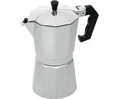 KitchenCraft Espressokocher für 6 Tassen Aluminium silber 290 ml