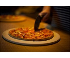 Kitchencraft Pizzastein-Set 3-teilig Keramik 32 cm