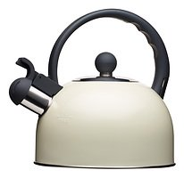 KitchenCraft Wasserkocher Living Nostalgia mit Pfeife 1,4l creme