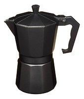 KitchenCraft Espressokocher für 6 Tassen Aluminium schwarz matt 290 ml