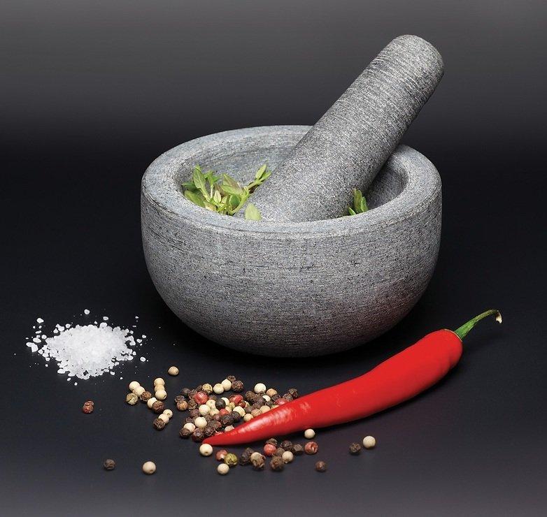 KitchenCraft Mörser und Stößel Granit 12 x 6 cm grau - Pic 2