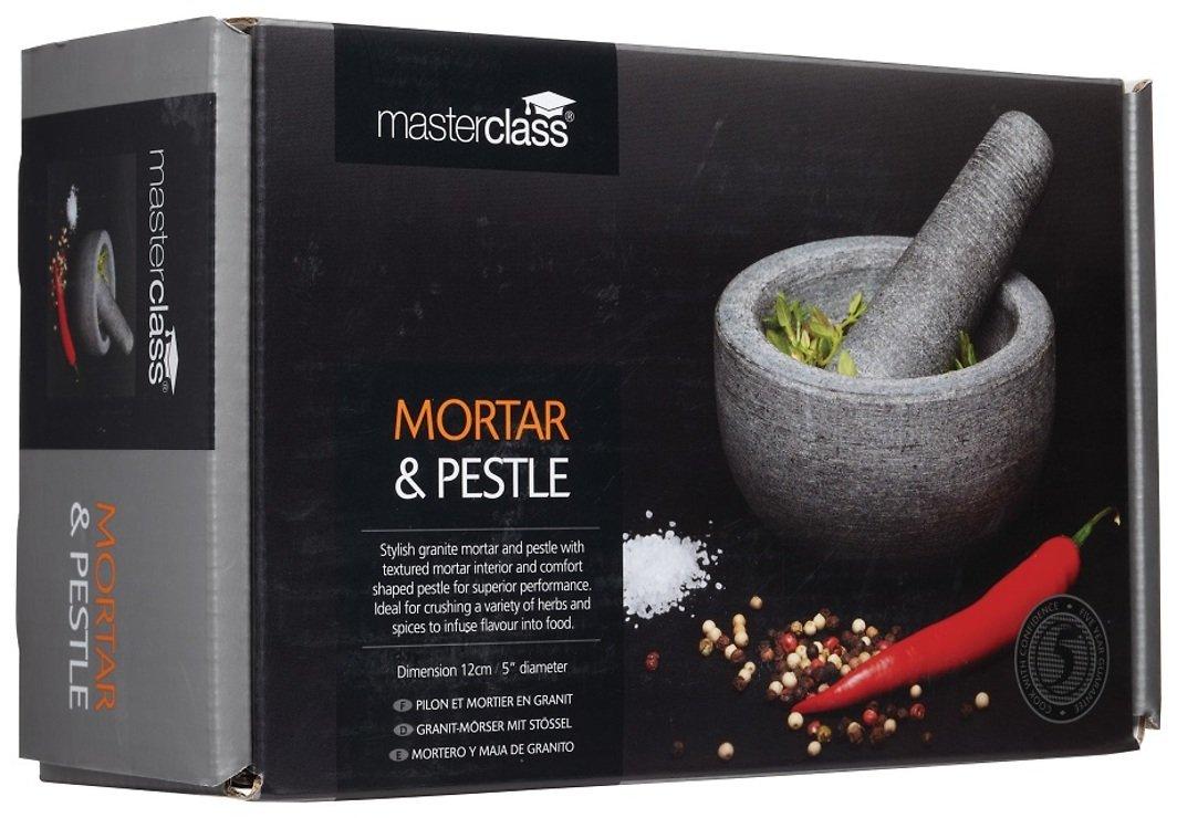 KitchenCraft Mörser und Stößel Granit 12 x 6 cm grau - Pic 3