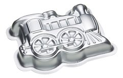 KitchenCraft Backform Lokomotive Aluminium 18 x 26 cm