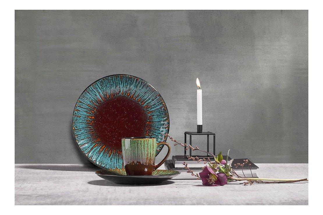 KJ Collection Kerzenständer Metall schwarz 8 x 10,5 cm - Pic 1