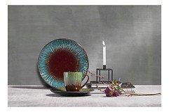 KJ Collection Kerzenständer Metall schwarz 8 x 10,5 cm