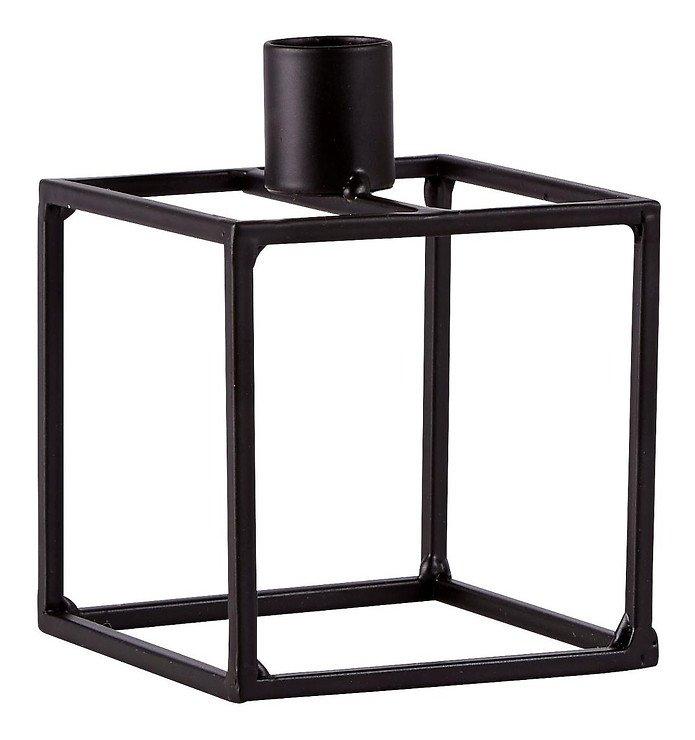 KJ Collection Kerzenständer Metall schwarz 8 x 10,5 cm - Pic 2