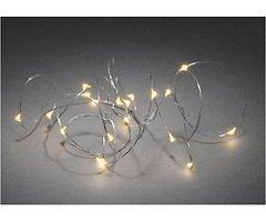 Konstsmide Lichterkette Micro 20 LED bersteinfarben 1,9m innen silber Batterie Timer