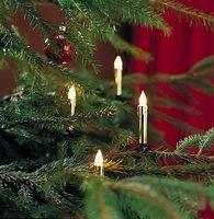 Konstsmide Lichterkette Baumkerzen Wachsoptik gold 20 Glühbirnen 5,7m grün