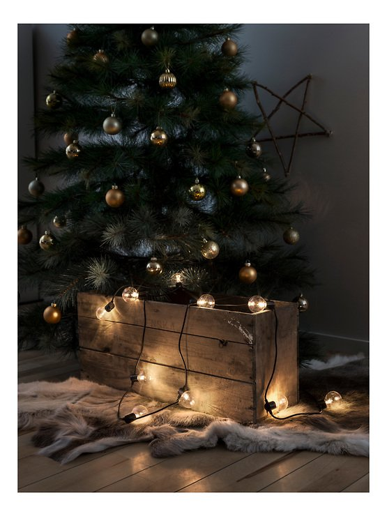 Konstsmide Biergarten Lichterkette 20 LED warmweiß in 10 Birnen klar 2,25 m schwarz - Pic 2
