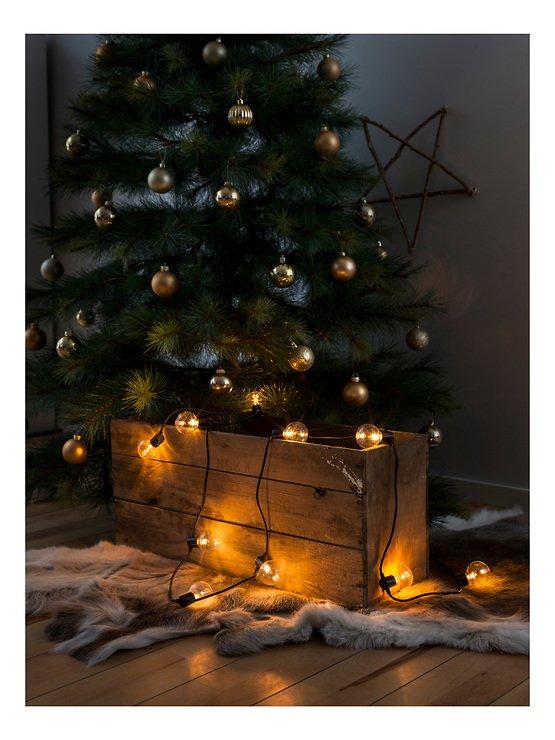Konstsmide Biergarten Lichterkette 20 LED bernstein in 10 Birnen klar 2,25 m schwarz - Pic 1