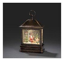 Konstsmide LED Laterne Weihnachtsmann 1 LED Batterie / Trafo 25 cm innen
