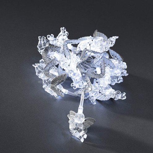 konstsmide led lichterkette engel 2 3 m 24 led kaltwei innen transparent kaufen. Black Bedroom Furniture Sets. Home Design Ideas