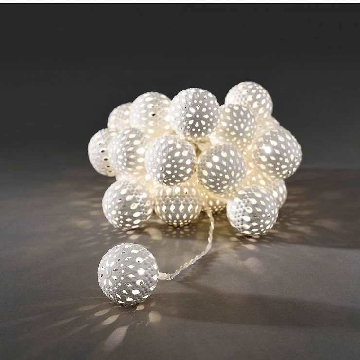 konstsmide led lichterkette metallb lle wei 2 99 m 24 led warmwei innen transparent kaufen. Black Bedroom Furniture Sets. Home Design Ideas