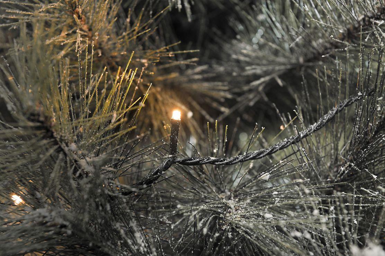 Konstsmide LED Lichterkette 200 LED bernsteinfarben außen 31,84m schwarz - Pic 1