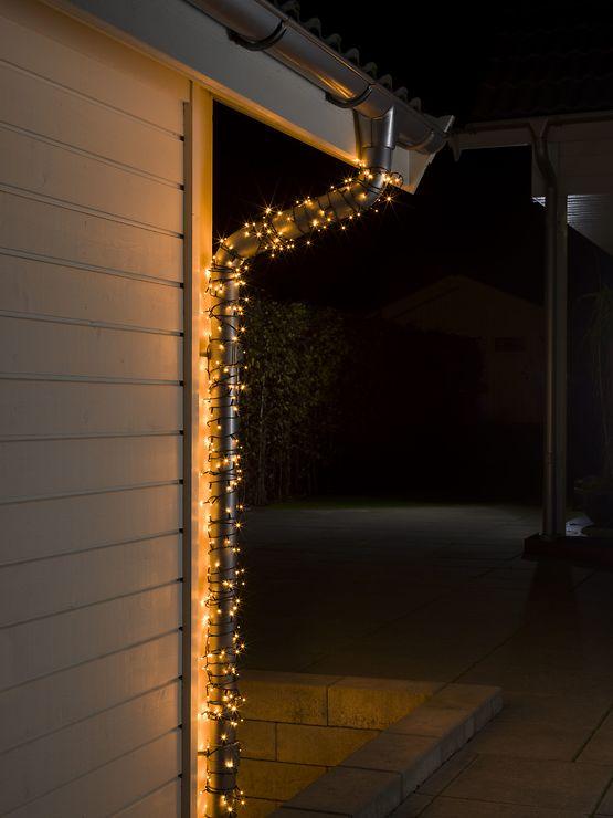 Konstsmide LED Lichterkette 200 LED bernsteinfarben außen 31,84m schwarz - Pic 2