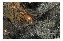 Konstsmide Lichterkette Glimmereffekt 120 LED bernstein 9,5m außen schwarz