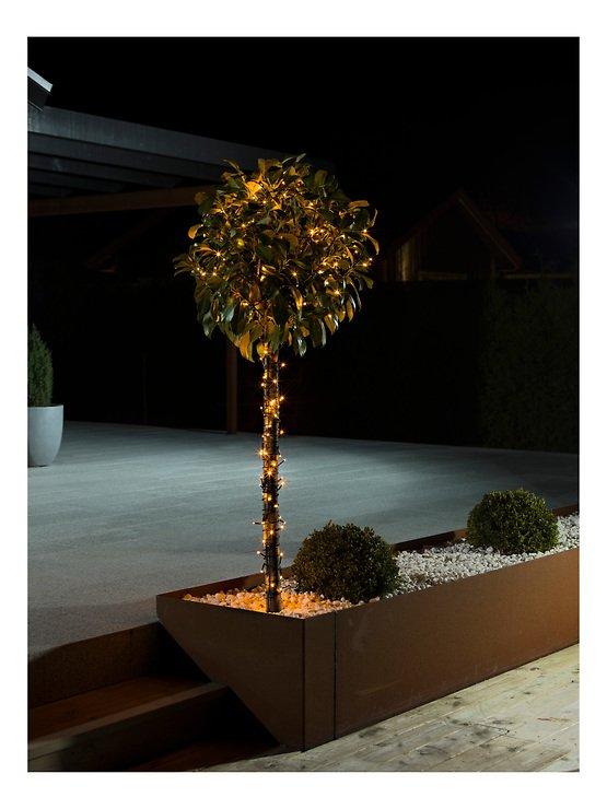 Konstsmide Lichterkette Glimmereffekt 160 LED bernstein 12,7m außen schwarz - Pic 2