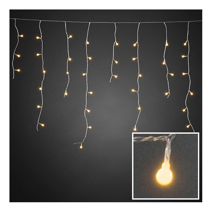 Konstsmide Lichtervorhang Eisregen 200 LED bernstein 5m außen transparent - Pic 1