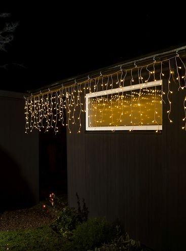 konstsmide led lichtervorhang eisregen 400 led warmwei au en 10 27m transparent kaufen. Black Bedroom Furniture Sets. Home Design Ideas