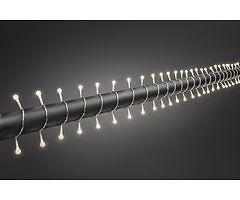 Konstsmide LED Lichterkette Globe 160 LED warmweiß außen 12,72m transparent