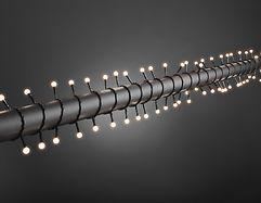 Konstsmide LED Lichterkette Globe 160 LED warmweiß außen 12,72m schwarz