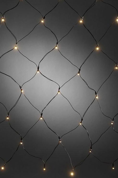 Konstsmide LED Lichternetz 80 x 80cm 40 LED batteriebetrieben außen schwarz - Pic 1