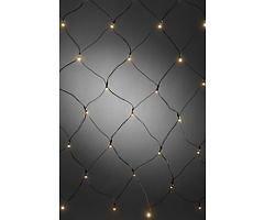 Konstsmide LED Lichternetz 80 x 80cm 40 LED batteriebetrieben außen schwarz