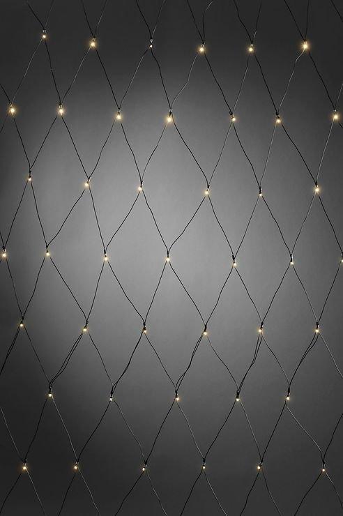 Konstsmide LED Lichternetz 80 x 160cm 80 LED batteriebetrieben außen schwarz - Pic 1
