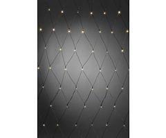 Konstsmide LED Lichternetz 80 x 160cm 80 LED batteriebetrieben außen schwarz