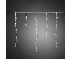 Konstsmide LED Lichtervorhang Eisregen 240 LED warmweiß außen 9m weiß