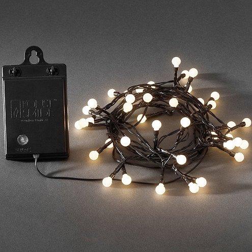 konstsmide led lichterkette globe 40 led warmwei au en 3 12m schwarz kaufen. Black Bedroom Furniture Sets. Home Design Ideas