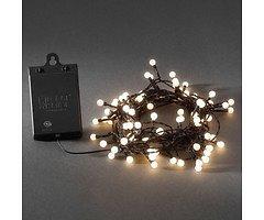 Konstsmide LED Lichterkette Globe 80 LED warmweiß außen 6,32m schwarz