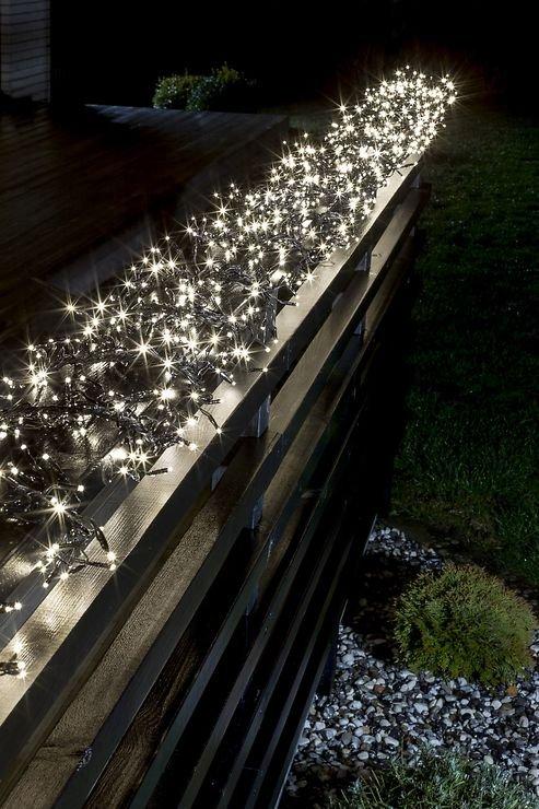 Konstsmide LED Büschellichterkette 1540 LED 8 Funktionen außen 9m schwarz - Pic 2