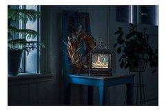 Konstsmide LED Schneelaterne Weihnachtsmarkt 1 LED Batterie / Trafo 25 cm innen