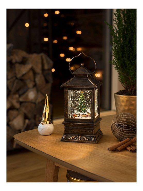 Konstsmide LED Schneelaterne Weihnachtsmarkt 1 LED batteriebetrieben 22 cm - Pic 1