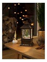 Konstsmide LED Schneelaterne Weihnachtsmarkt 1 LED batteriebetrieben 22 cm