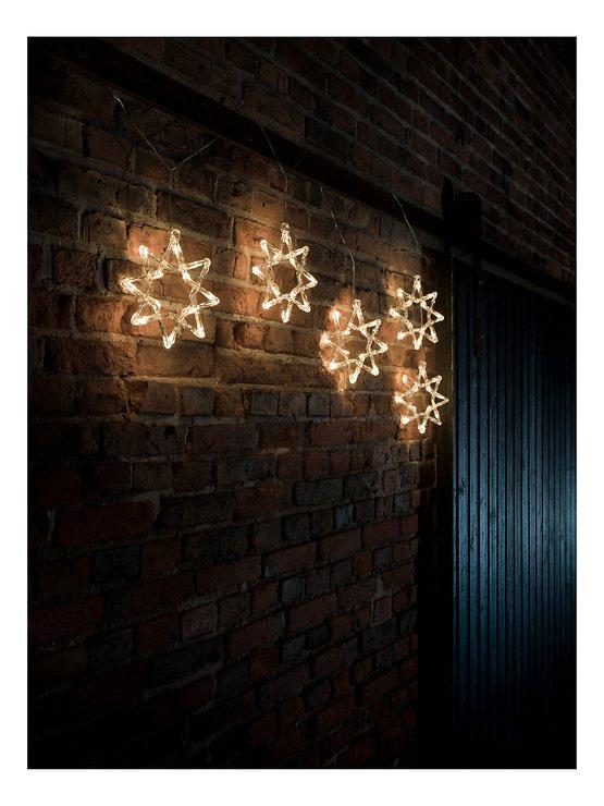 Konstsmide Lichtervorhang 5 Acrylsterne 60 LED Dioden 2m außen transparent - Pic 2